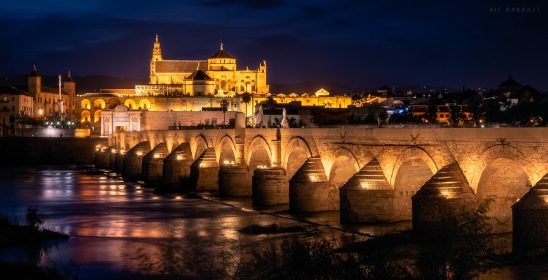 The Roman bridge crossing the Guadalquivir river in Córdoba.